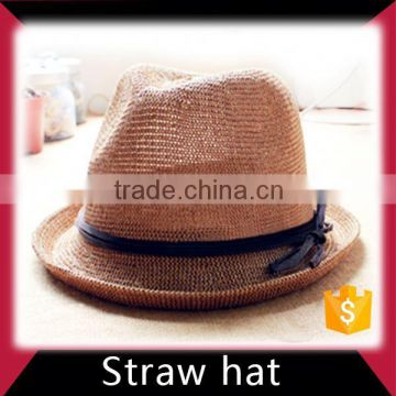 Bucket straw baseball cap