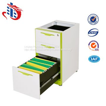 High quality under office desk 3 drawers steel storage filing cabinets