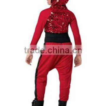 2017 Newly Teen Girls Red Lycrial Red Sequin Top Hip Hop Dance Costume Of Hip Pop From China Suppliers 144978990