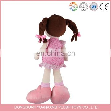 Manufacturer Custom Plush Lovely Little Girls Doll