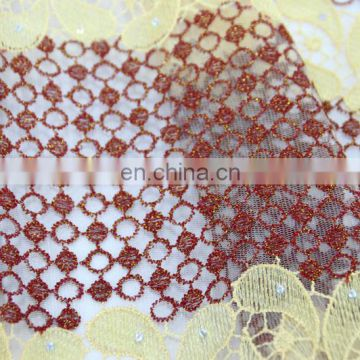 China suppliers african lace fabrics/french african tulle lace fabric for woman wedding dress