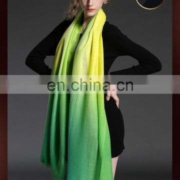 Winter scarf 100% wool gradient lady scarf wholesale scarf green