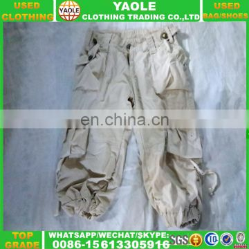 adult cargo short pants used clothes for african summer