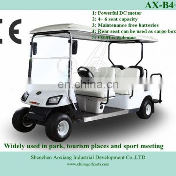 Cheap 6 seater ce approval electric car for sale from golf cart factory sale (AX-B4+2)