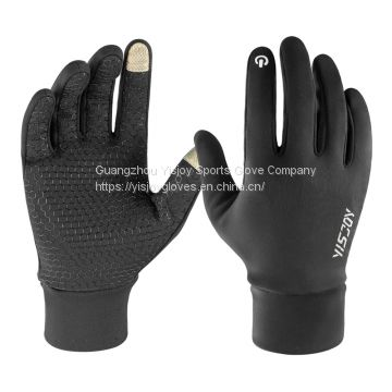 Outdoor Winter Thermal Gloves Touchscreen Running Hiking Jogging Sports Gloves Manufacturer