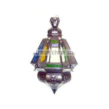 High quality Moroccon decoration glass metal pendant lantern , Moroccon ceiling lamp, Hanging lantern