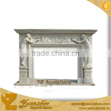 Indoor used White Marble Fireplace Carving sculpture