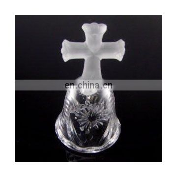 wedding souvenir Bell with cross top 24 % lead crystal