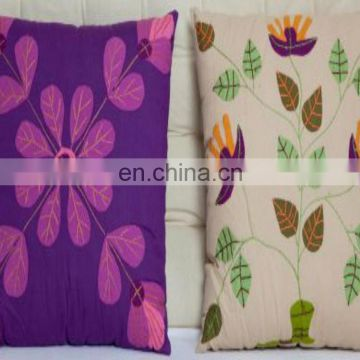 Custom Made High Quality 2017 handmade flowers design home decor sofa set cushion cover