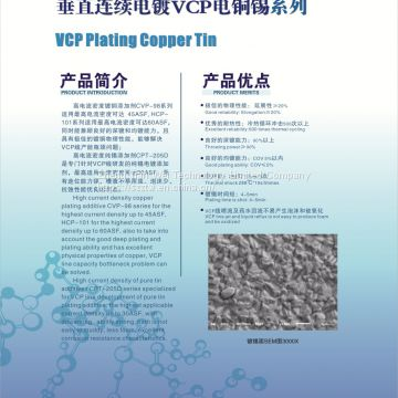 Plating Copper and Tin for Vertical Continuous Plating (VCP)