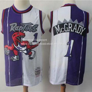 los angeles e7fb5 9463f Toronto Raptors #1 McGrady Throwback white&purple Jersey of ...