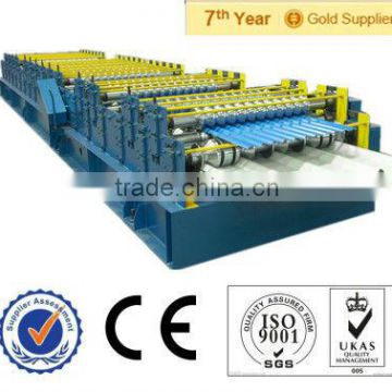 zinc aluminium roofing tile cold roll forming making machine