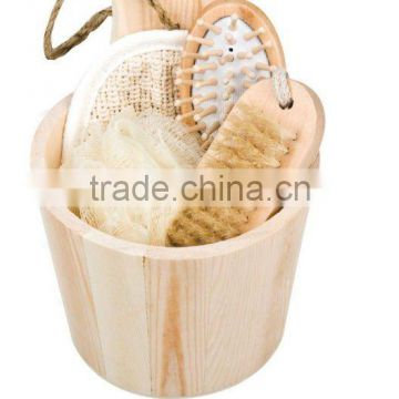 wooden barrel set in home & garden pail cask clearner set