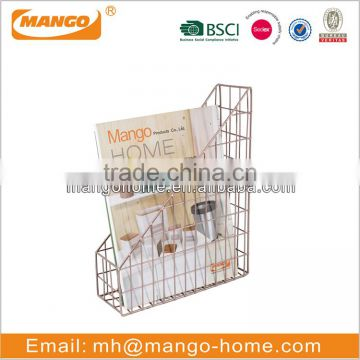 Wire mesh table metal file stand holder