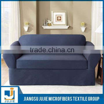 Plain dyed L shape sofa cover design for sale,sofa cover set,sofa set covers