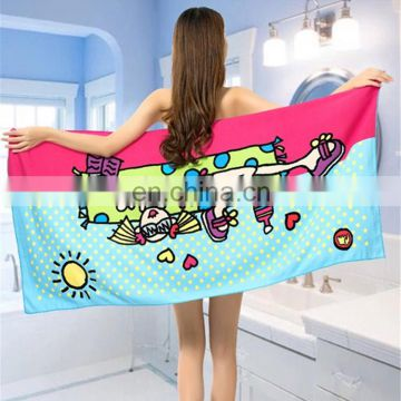 Sublimated Surfing Swimming Custom Beach Towel
