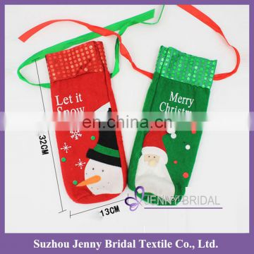 CD01 new christmas decoration 2016 chirstmas decoration christmas wine bags