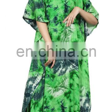 Dubai Style Causal Printed Kaftans 2017 / Womens Stylish Beach Wear Kaftans 2017 (kaftans 2017)