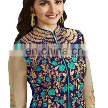 2017 Ladies Attractive Casual Party Wear Koti Style Salwar Kameez Dress Materials
