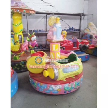 Zhongshan amusement mini carousel Baby Milk park rides merry go round Rotating coin operated
