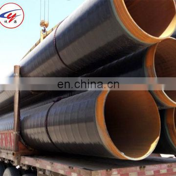 Drinking water delivery 3PE anti-corrosion spiral steel pipe