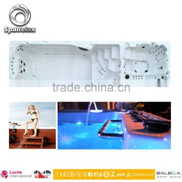 High quality fiberglass pool outdoor swim spa with CE (SRP-660)