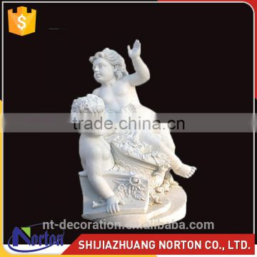 Marble classical marble life size children statues with base NTMS-052Y