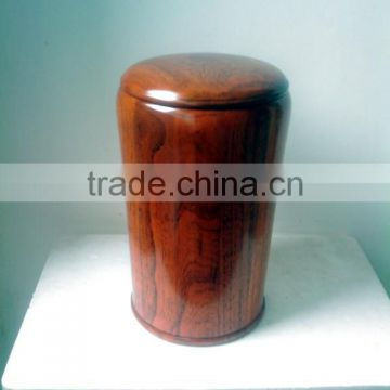 2015 Cheap classical Round Wooden crematoin urn with lid for ashes