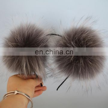 Handmade fur accessory high quality raccoon fur ball hair decoration fashion style