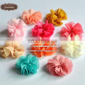 2013 Hot Sale New Style DIY Mini Chiffon Flowers Solid Ballerina Flowers on sunshine field