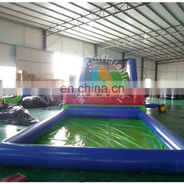 2017 Hot promote inflatable pool children inflatable obstacle course with pool for sale