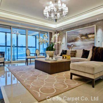 Beige Color Living Room Large Size Luxury Quality Carpet