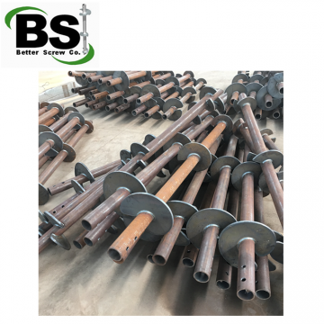 Power driven helical screw piles for building