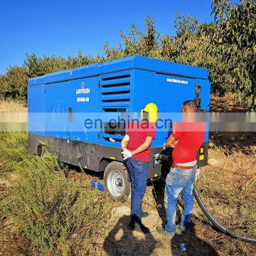 Wide range capacity price of 250 cfm air compressor for borehole drilling