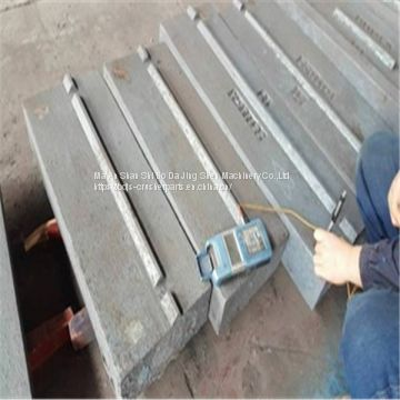 Customized High Chromium Iron Casting Blow Bar for Impact Crusher Wear Resistant Parts