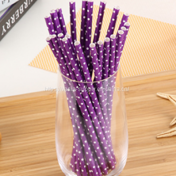 Polka Dot Paper Straws - Party Straws | Colorful Drinking Straws | Eco Friendly Biodegradable Straws