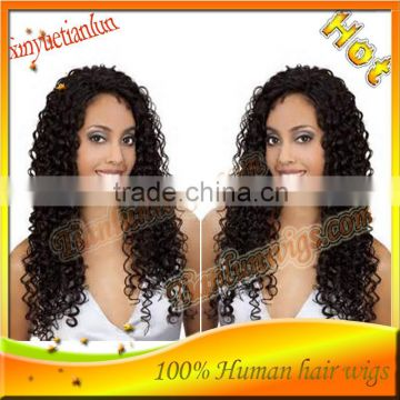 Wholesale price Nice Curly Glueless Full Lace Wig brazilian Human Hair wigs Natural Hairline with baby hair Best Quality!!
