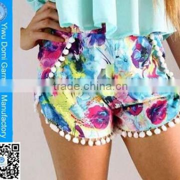 The charming beach summer amorous feelings sexy volleyball couple beach shorts for women