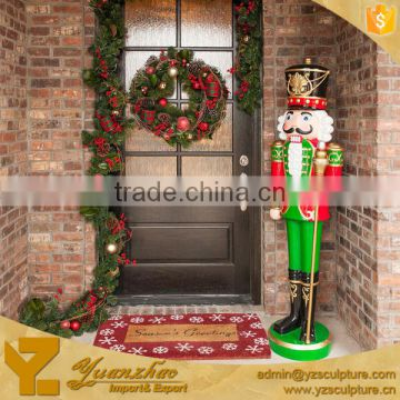 Royal Life Size Resin Soldier Nutcracker Statue for Christmas decoration