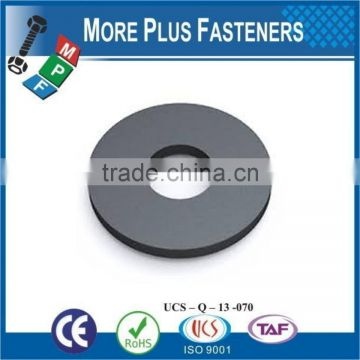 Made in Taiwan Black Nylon Flat Reinforced Neoprene Rubber Round Polyamide Plastic Washer
