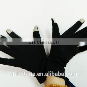 Thermal silk teenager touch screen gloves