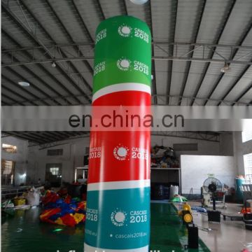 Customized baby toys empty inflatable cylinder