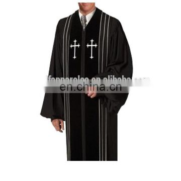 High Quality Bishop Clergy Robes In Black/Blue Colors
