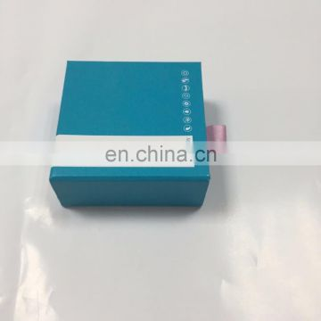 High quality colorfull slide box with custom ribbon hand