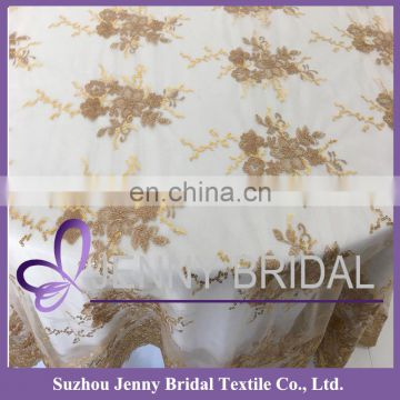 TL002S-BROWN embroidery table cloth decorative handicraft table cover cocktail table cover