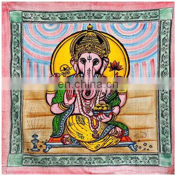 Lord Ganesha Print new home decore traditional bed spread religious and occasional product large tapestry