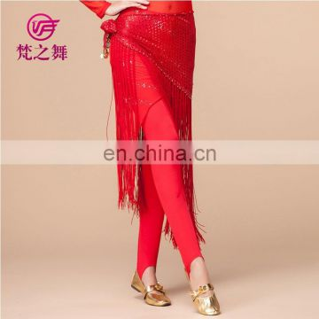 Practice cotton long women Belly dance tight pant K-4037#