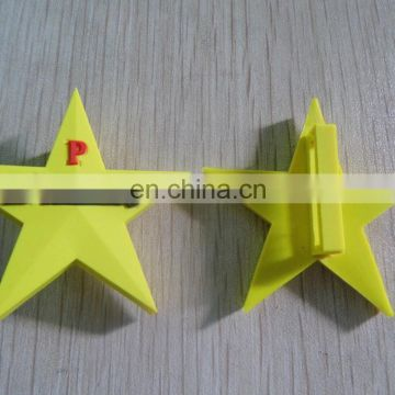 custom star shaped soft rubberized pvc pencil topper