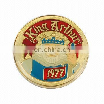 GOLD HIGH QUAILTY Pantone Color SOFT ENAMEL Metal Coin