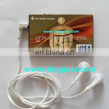 Bank card shaped FM radio